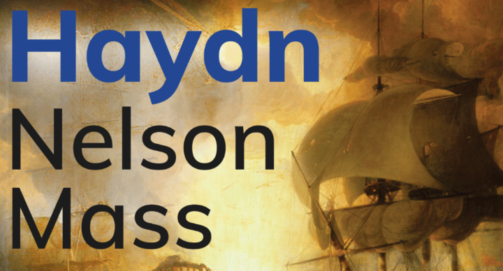 Nelson Mass text with fire and sails